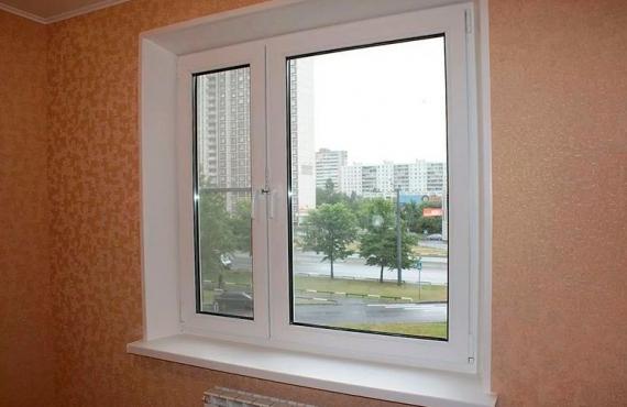 Крашенные окна пвх